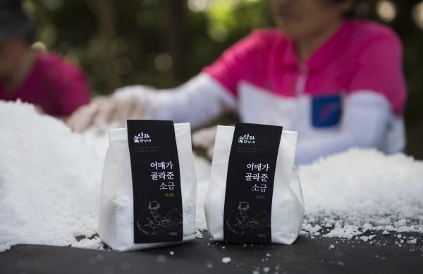 어매가 골라준 소금(비닐팩 소금) : 절임용 100g 양념용 100g