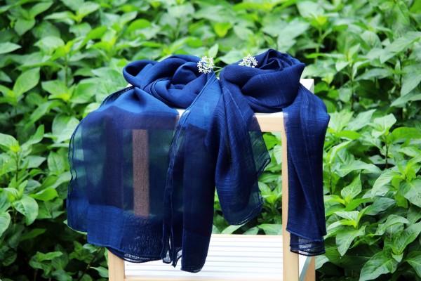 전통 쪽염색 스카프